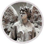 Famiglia Cavaliere Del Francesco Canti Memorial Marker Detail IIi Monumental Cemetery Round Beach Towel