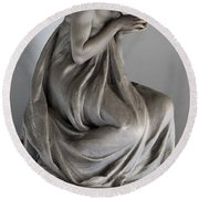 Famiglia Meretti Grave Marker Monumental Cemetery Milan Italy Round Beach Towel