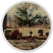 Family Plot Orton Style Round Beach Towel
