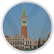 Famous Venice Italy Round Beach Towel