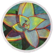 Fanciful Agave Round Beach Towel
