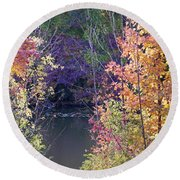 Fanciful Forest Round Beach Towel