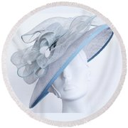 Fancy Hat Atilt Round Beach Towel