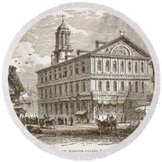 Faneuil Hall, Boston, Which Webster Round Beach Towel
