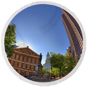 Faneuil Hall Square Round Beach Towel by Joann Vitali