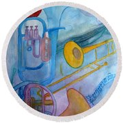 Fanfare Round Beach Towel