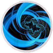 Fantasia Azul Round Beach Towel