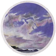 Fantastic Sunset North Shore Oahu Hawaii Round Beach Towel