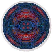 Fantasy Art Future Cosmic Discoveries Biological Planets N Galaxies Recreating N Multiplying Backgro Round Beach Towel