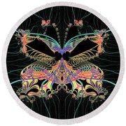 Fantasy Butterfly Round Beach Towel
