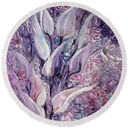 Fantasy Callas Round Beach Towel