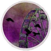 Fantasy Ferris-wheel Round Beach Towel