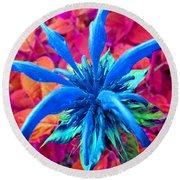 Fantasy Flower 1 Round Beach Towel