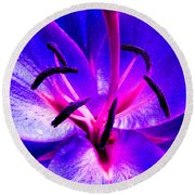 Fantasy Flower 9 Round Beach Towel