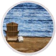 Fantasy Getaway Round Beach Towel