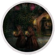 Fantasy - Into The Night Round Beach Towel by Mike Savad