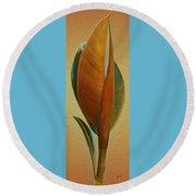 Fantasy Leaf Round Beach Towel