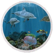 Fantasy Reef Re0020 Round Beach Towel
