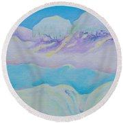 Fantasy Snowscape Round Beach Towel