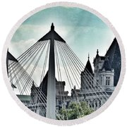 Fantasy London . Old Spires New Round Beach Towel