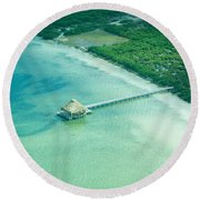 Far Away Round Beach Towel