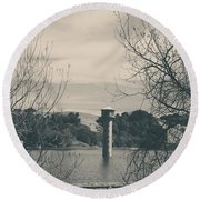 Far From Me Round Beach Towel