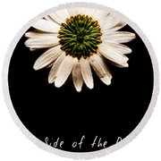 Far Side Of The Daisy Fractal Version Round Beach Towel