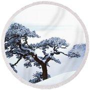 Fare-well Pine Tree Round Beach Towel