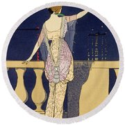 Farewell At Night Round Beach Towel