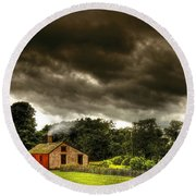 Farm - Barn - Storms A Comin Round Beach Towel