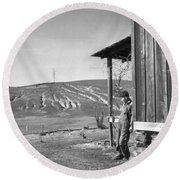 Farm Erosion, 1937 Round Beach Towel