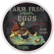 Farm Fresh-jp2636 Round Beach Towel