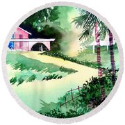 Farm House New Round Beach Towel