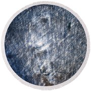 Farm In The Woods On A Hill Round Beach Towel
