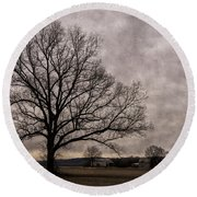Farm Land Near Matson Mo Dsc00412 Round Beach Towel