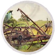 Farm Life Round Beach Towel