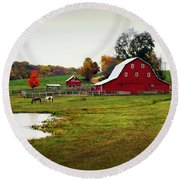 Farm Perfect Round Beach Towel