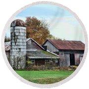 Farm - The Old Barn Round Beach Towel