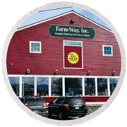 Farm- Way  Www.vermontgear.com Round Beach Towel