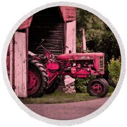 Farmall 200 Round Beach Towel by Robert Geary