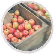 Farmers' Market Apples Round Beach Towel