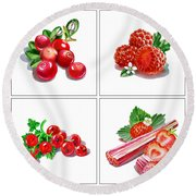 Farmers Market Gifts Red Vitamins Round Beach Towel