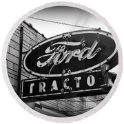 Farming - Ford Tractors Round Beach Towel