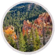 Farview Point Overlook Round Beach Towel