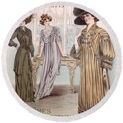Fashion Advert For Eloy Mignot Round Beach Towel