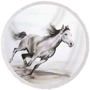 Fast In The Spirit Round Beach Towel by Tamer and Cindy Elsharouni