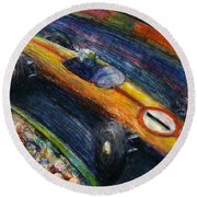 Fastcar Round Beach Towel