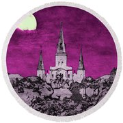 Fat Tuesday Eve Round Beach Towel