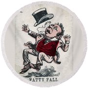 Fatty Fall Round Beach Towel