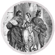 Faust: Mephistopheles 1828 Round Beach Towel